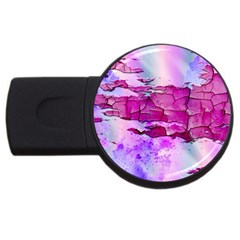 Background Crack Art Abstract Usb Flash Drive Round (4 Gb)