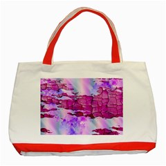 Background Crack Art Abstract Classic Tote Bag (red)