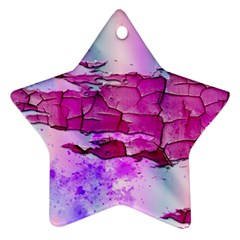 Background Crack Art Abstract Star Ornament (two Sides)