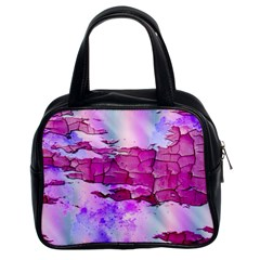 Background Crack Art Abstract Classic Handbags (2 Sides)