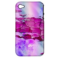 Background Crack Art Abstract Apple Iphone 4/4s Hardshell Case (pc+silicone)