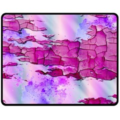 Background Crack Art Abstract Double Sided Fleece Blanket (medium)