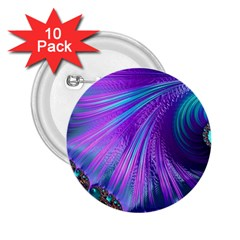 Abstract Fractal Fractal Structures 2 25  Buttons (10 Pack)
