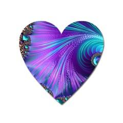 Abstract Fractal Fractal Structures Heart Magnet