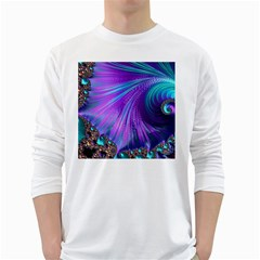 Abstract Fractal Fractal Structures White Long Sleeve T Shirts