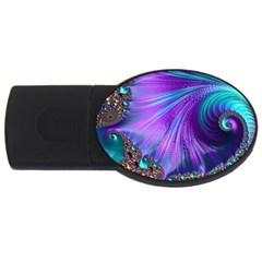 Abstract Fractal Fractal Structures Usb Flash Drive Oval (4 Gb)