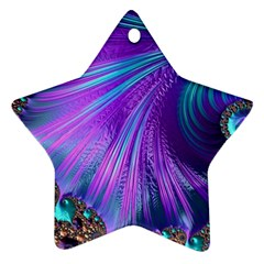 Abstract Fractal Fractal Structures Star Ornament (two Sides)