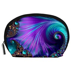 Abstract Fractal Fractal Structures Accessory Pouches (large)