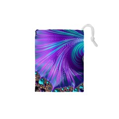 Abstract Fractal Fractal Structures Drawstring Pouches (xs)