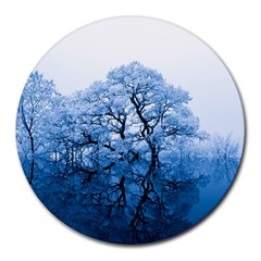 Nature Inspiration Trees Blue Round Mousepads