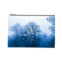 Nature Inspiration Trees Blue Cosmetic Bag (large)