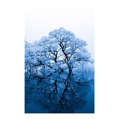Nature Inspiration Trees Blue Shower Curtain 48  X 72  (small)