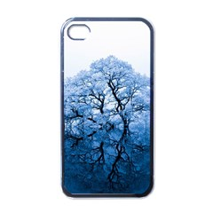 Nature Inspiration Trees Blue Apple Iphone 4 Case (black)