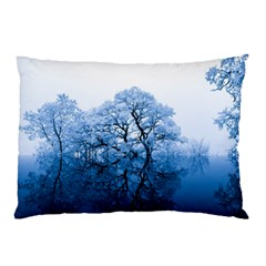 Nature Inspiration Trees Blue Pillow Case (two Sides)