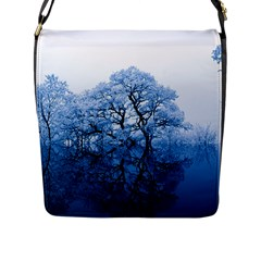 Nature Inspiration Trees Blue Flap Messenger Bag (l)