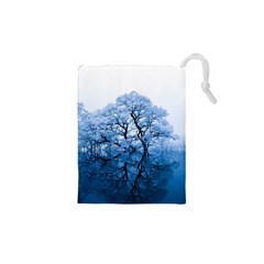 Nature Inspiration Trees Blue Drawstring Pouches (xs)