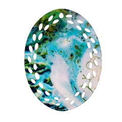 Abstract Art Modern Detail Macro Oval Filigree Ornament (two Sides)