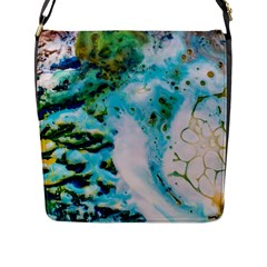 Abstract Art Modern Detail Macro Flap Messenger Bag (l)