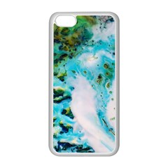 Abstract Art Modern Detail Macro Apple Iphone 5c Seamless Case (white)