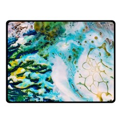 Abstract Art Modern Detail Macro Double Sided Fleece Blanket (small)