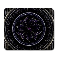 Fractal Abstract Purple Majesty Large Mousepads