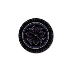 Fractal Abstract Purple Majesty Golf Ball Marker