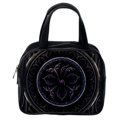 Fractal Abstract Purple Majesty Classic Handbags (one Side)