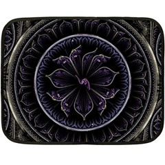 Fractal Abstract Purple Majesty Double Sided Fleece Blanket (mini)