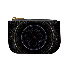 Fractal Abstract Purple Majesty Mini Coin Purses