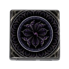 Fractal Abstract Purple Majesty Memory Card Reader (square)