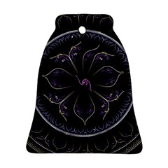 Fractal Abstract Purple Majesty Ornament (bell)