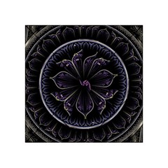 Fractal Abstract Purple Majesty Acrylic Tangram Puzzle (4  X 4 )