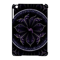 Fractal Abstract Purple Majesty Apple Ipad Mini Hardshell Case (compatible With Smart Cover)