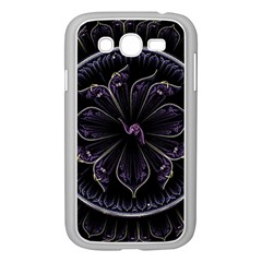 Fractal Abstract Purple Majesty Samsung Galaxy Grand Duos I9082 Case (white)