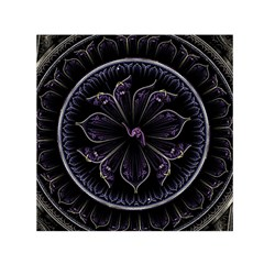 Fractal Abstract Purple Majesty Small Satin Scarf (square)