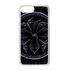 Fractal Abstract Purple Majesty Apple Iphone 7 Plus Seamless Case (white)