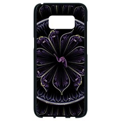 Fractal Abstract Purple Majesty Samsung Galaxy S8 Black Seamless Case