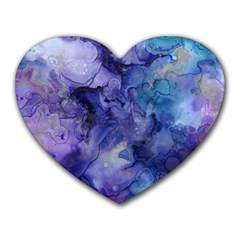 Ink Background Swirl Blue Purple Heart Mousepads