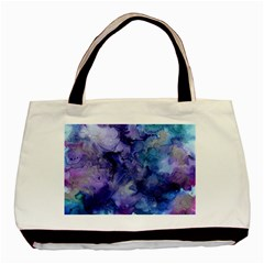 Ink Background Swirl Blue Purple Basic Tote Bag (two Sides)