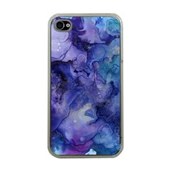 Ink Background Swirl Blue Purple Apple Iphone 4 Case (clear)
