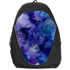 Ink Background Swirl Blue Purple Backpack Bag