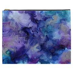 Ink Background Swirl Blue Purple Cosmetic Bag (xxxl)