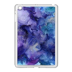 Ink Background Swirl Blue Purple Apple Ipad Mini Case (white)