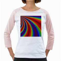 Abstract Pattern Lines Wave Girly Raglans