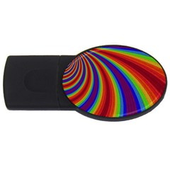 Abstract Pattern Lines Wave Usb Flash Drive Oval (4 Gb)