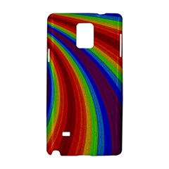 Abstract Pattern Lines Wave Samsung Galaxy Note 4 Hardshell Case