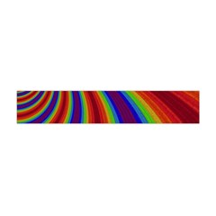 Abstract Pattern Lines Wave Flano Scarf (mini)