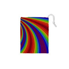 Abstract Pattern Lines Wave Drawstring Pouches (xs)