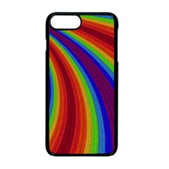 Abstract Pattern Lines Wave Apple Iphone 8 Plus Seamless Case (black)