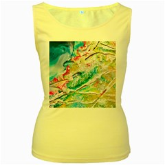 Art Abstract Abstract Art Women s Yellow Tank Top